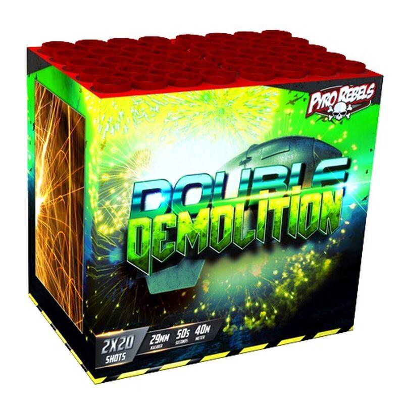 Double Demolition 40-Schuss-Feuerwerk-Batteriesortiment von Geisha-Rubro kaufen