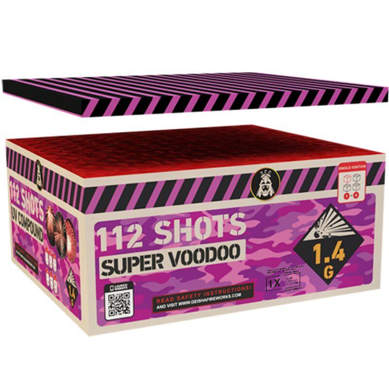 Super Voodoo 112-Schuss-Feuerwerkverbund von Geisha-Rubro kaufen