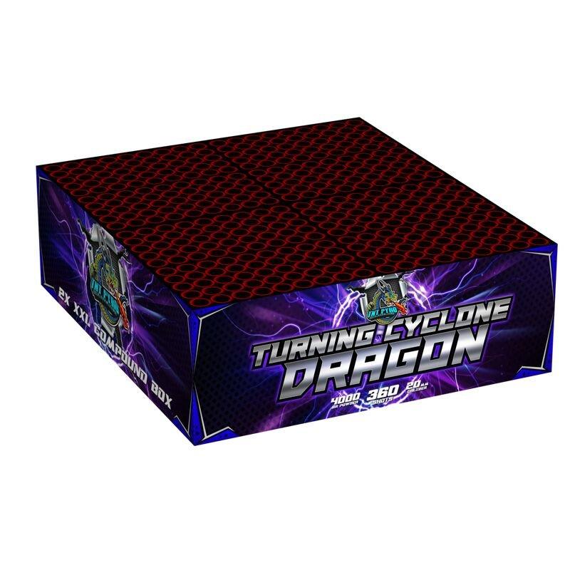 Turning Cyclone Dragon 360-Schuss-Feuerwerkverbund von TNT  Pyro kaufen