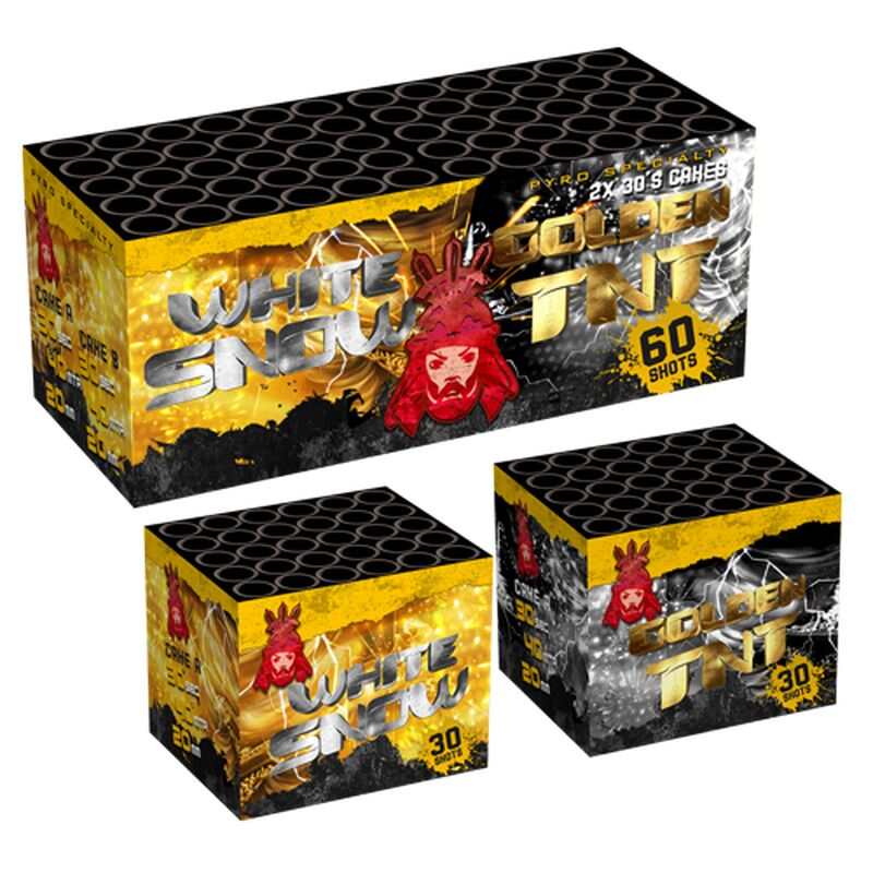 White Snow & Golden TNT 60-Schuss-Feuerwerk-Batteriesortiment von Geisha-Rubro kaufen